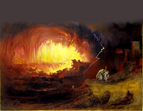 Sodoma e Camorra John Martin The Destruction of Sodom and Gomorrah 1852