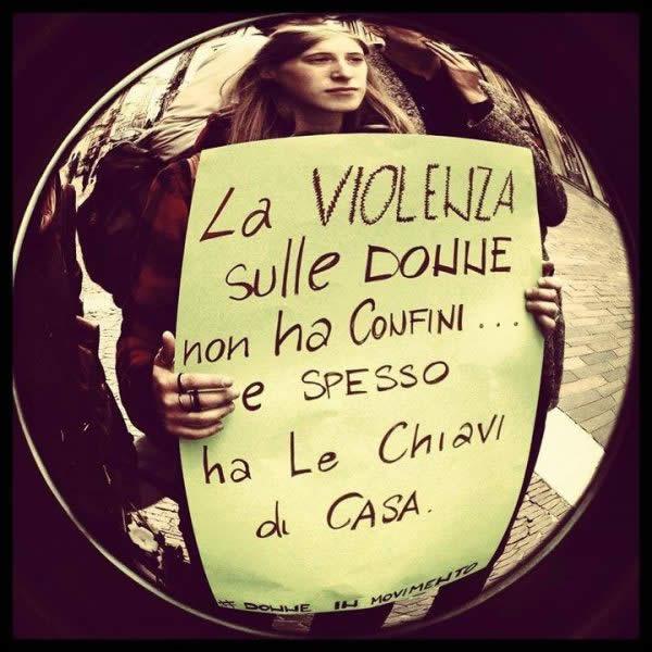 Violenza sulle Donne - Tante Chiacchiere Pochi Fatti Chiavi di Casa