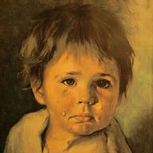 La Burocrazia Protegge Se Stessa- Giovanni Bragolin - Bambino Piangente 3
